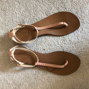 *2 for $20* Pink/rose gold Loft sandals